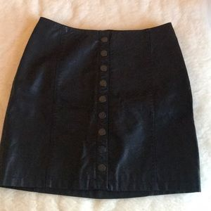 Free People Skirts - Oh Snap Vegan Leather Skirt
